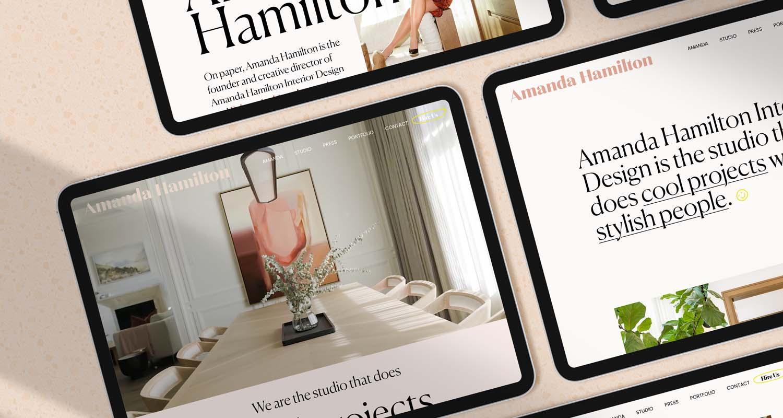 Amanda Hamilton Interior Design | Website Design | Brand Design